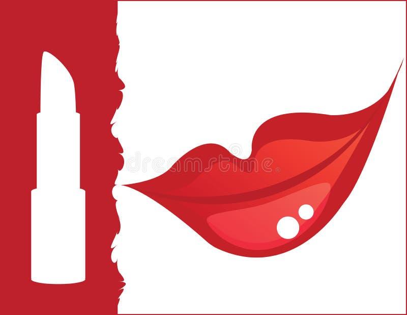 Rouge à lievres rouge et languettes rouges illustration libre de droits