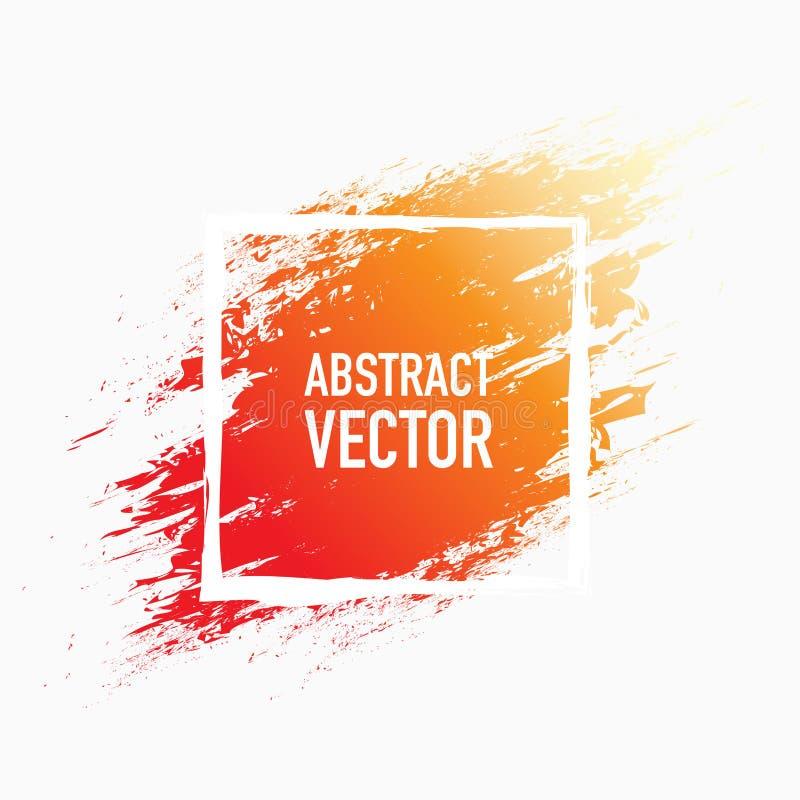 Rouge abstrait et orange d'éclaboussure illustration de vecteur