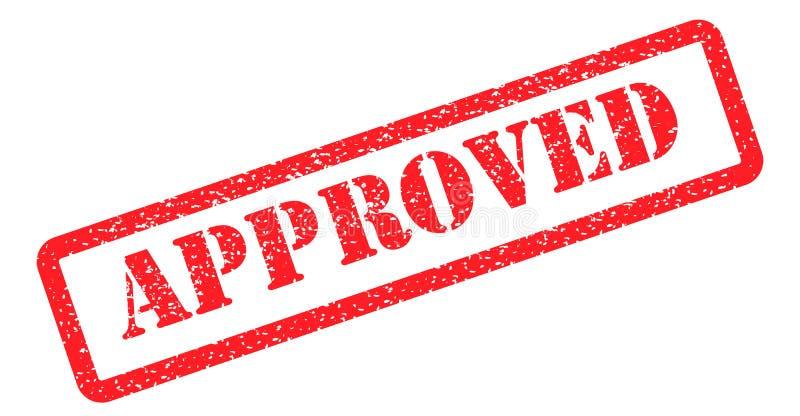 Rouge approuvé de timbre illustration libre de droits