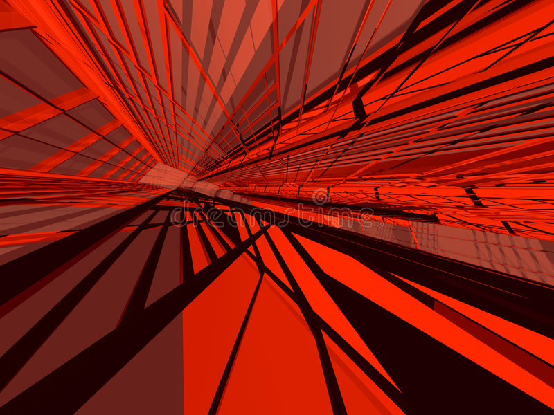 Rouge architectural illustration libre de droits