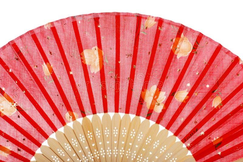rouge asiatique de ventilateur image stock