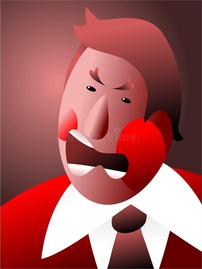 Rouge avec fureur illustration libre de droits
