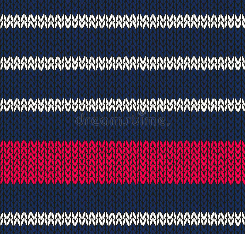 Rouge blanc bleu marin sans joint de type illustration stock