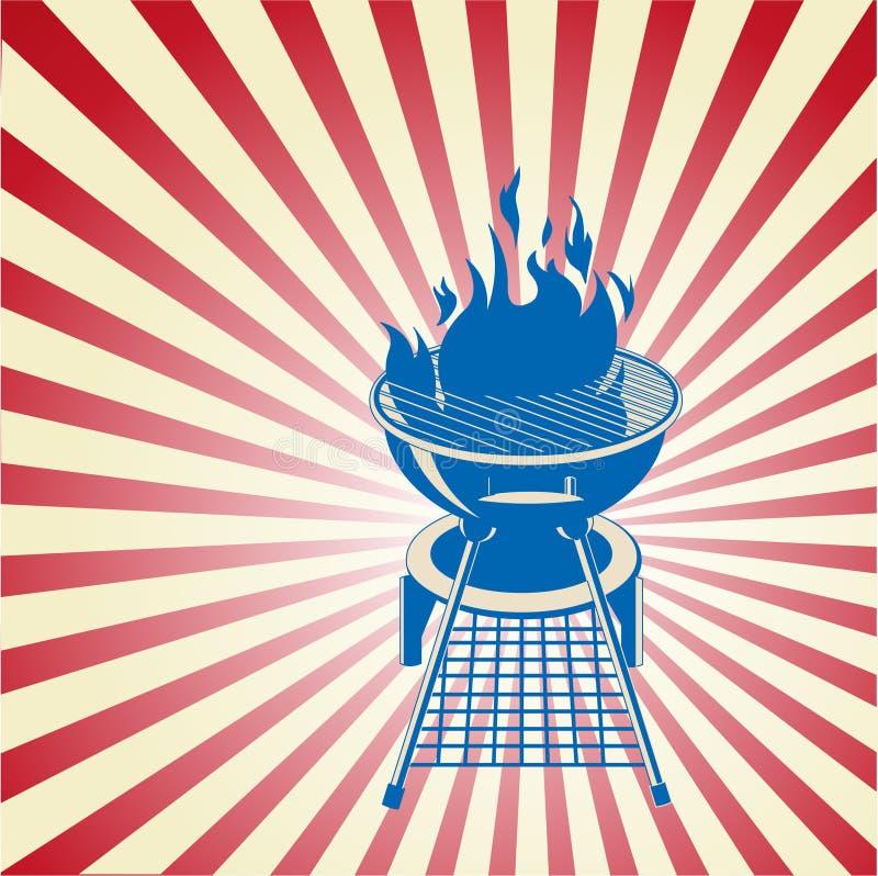 Rouge, blanc et BBQ illustration libre de droits