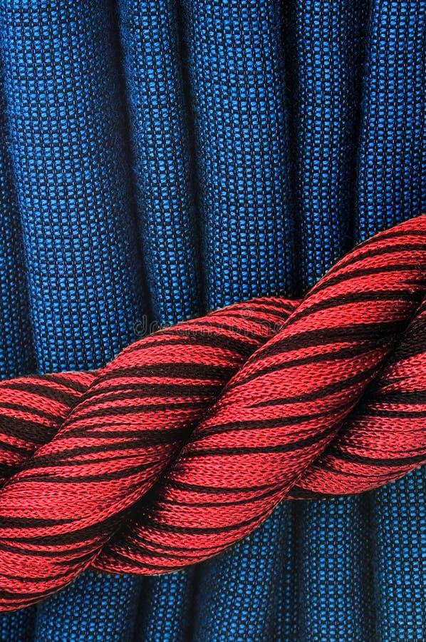 rouge bleu de rideau photo stock