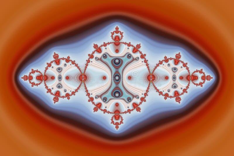 Rouge bleu Diamond Fractals illustration de vecteur