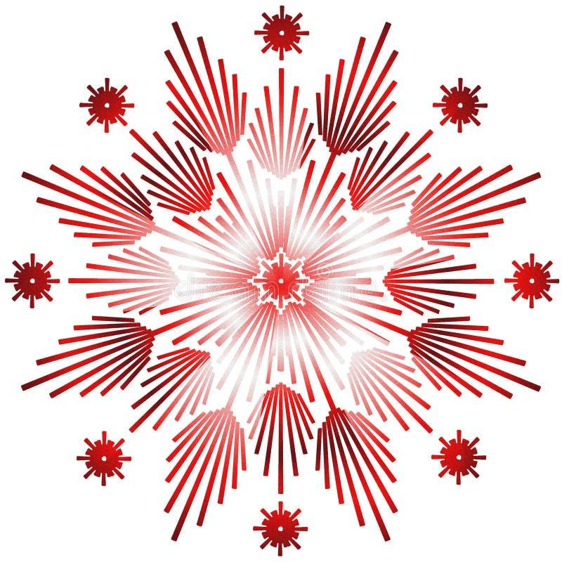 Rouge brillant d'étoile illustration de vecteur
