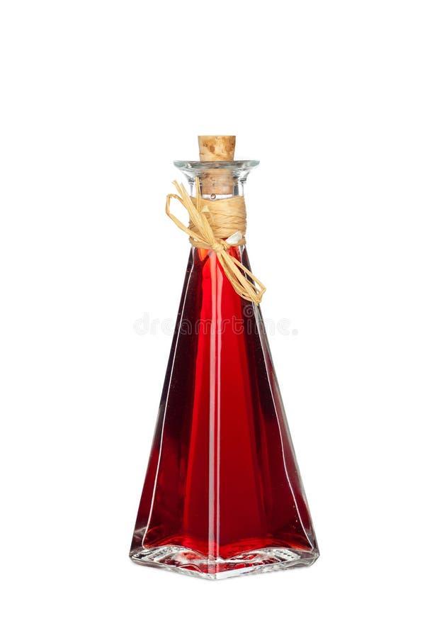 Rouge Chili Oil de bouteille photo stock