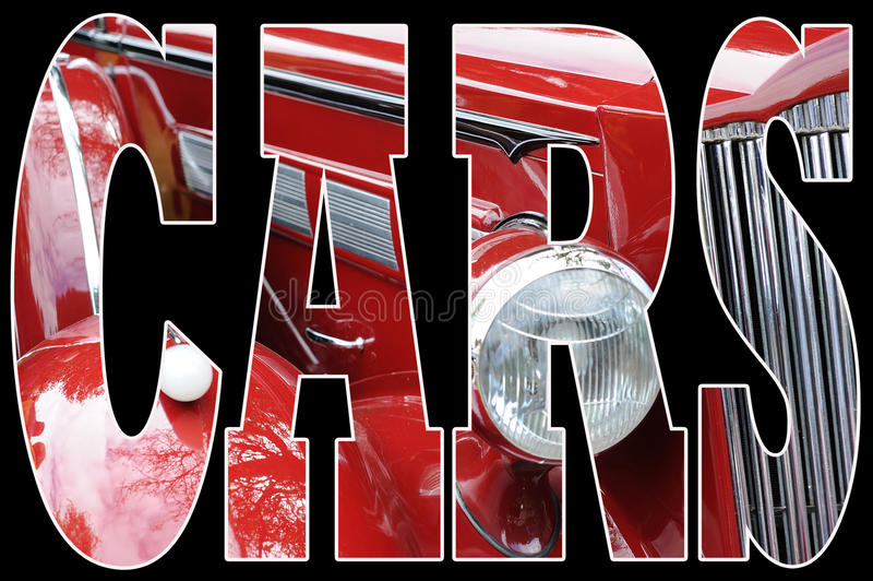 rouge classique de véhicule illustration de vecteur