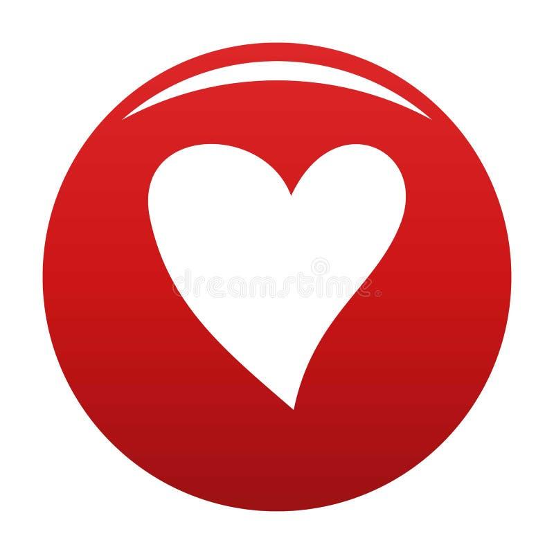 Rouge cruel de vecteur d'icône de coeur illustration de vecteur