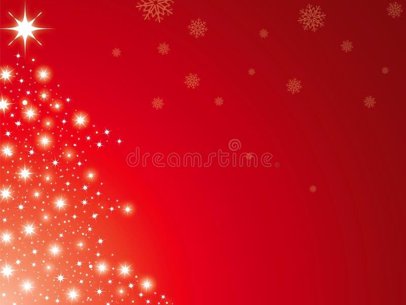 Rouge d'arbre de Noël illustration libre de droits
