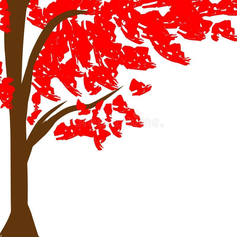 Rouge d'arbre photos stock
