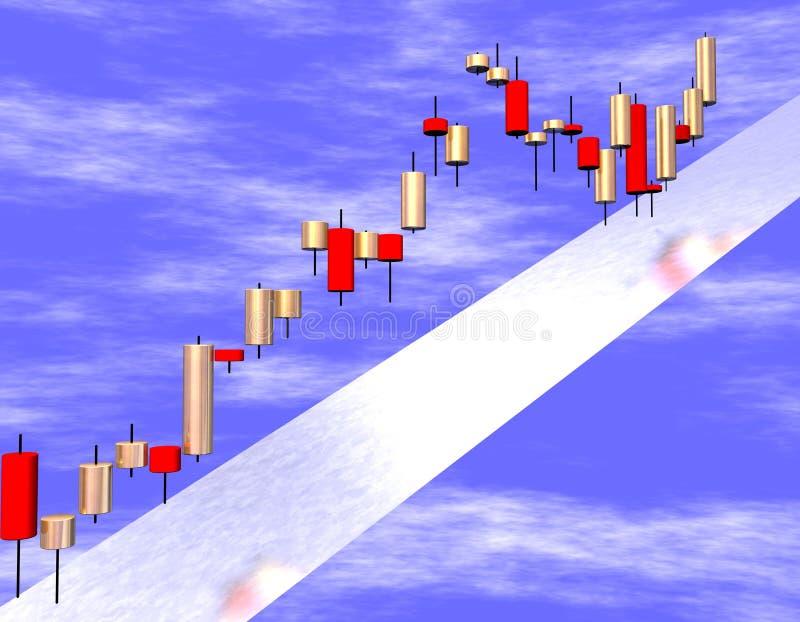 Rouge d'or du chandelier 3d illustration libre de droits
