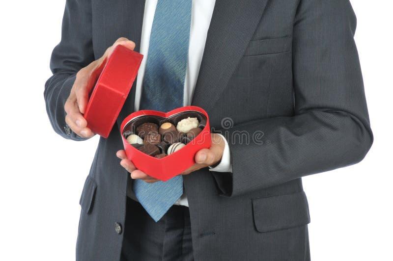 rouge d'homme de coeur de sucrerie de cadre photographie stock