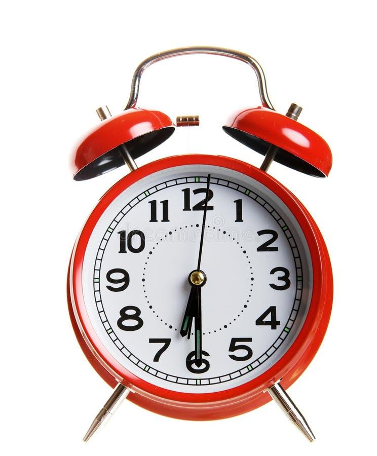 rouge d'horloge d'alarme photos libres de droits