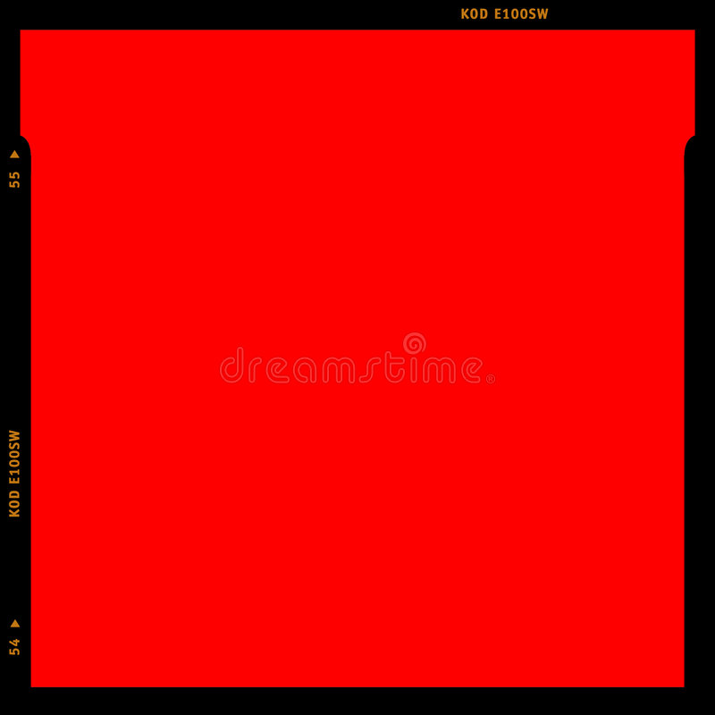 Rouge de bande de film de RVB illustration de vecteur