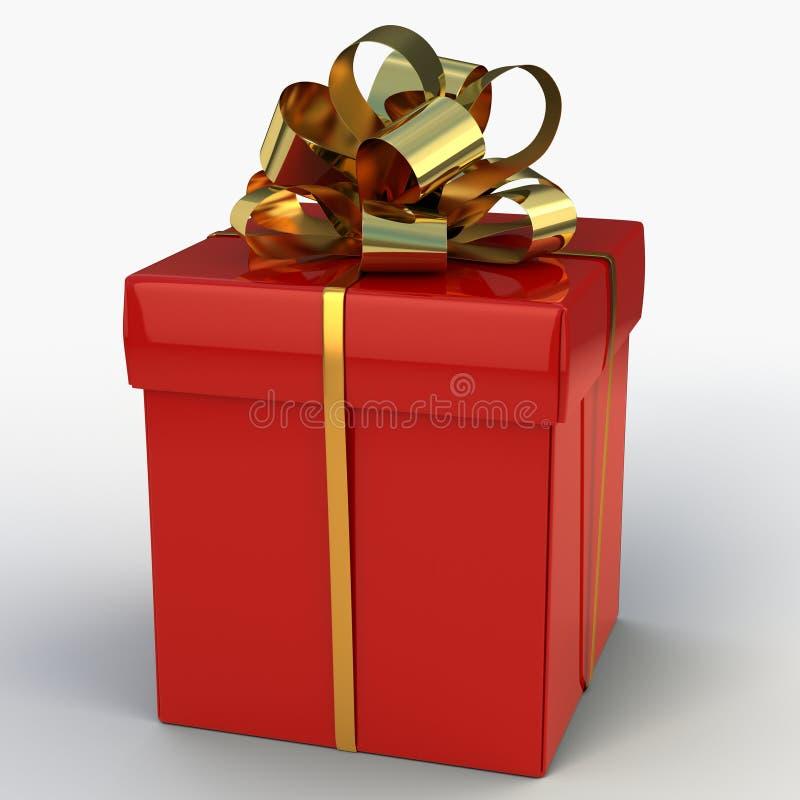 Rouge de boîte-cadeau illustration de vecteur