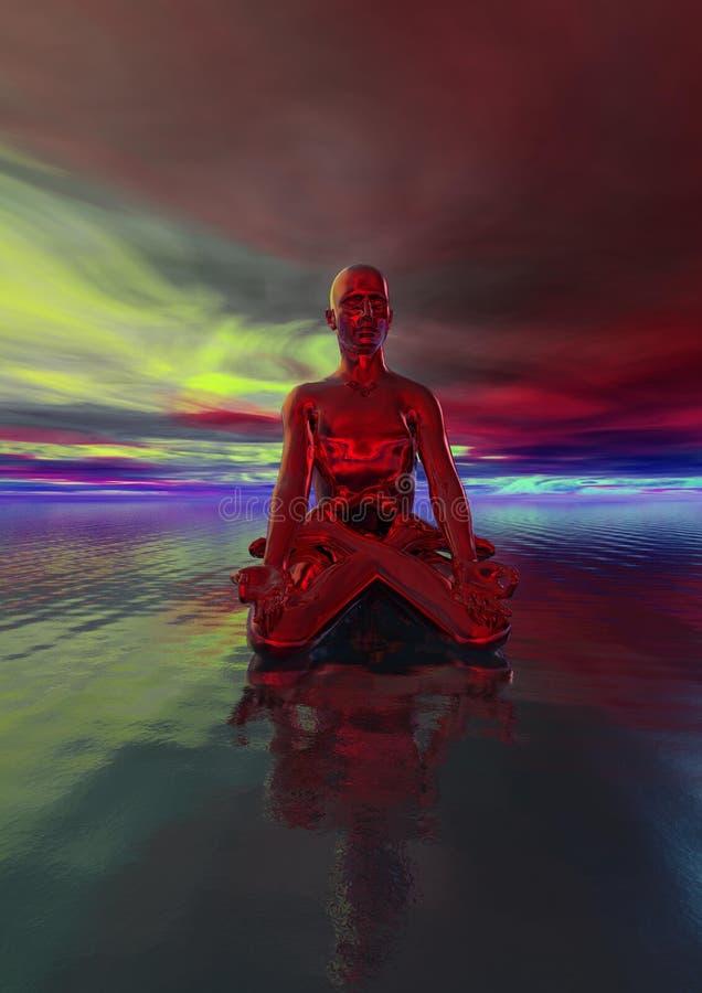 Rouge de Bouddha illustration libre de droits