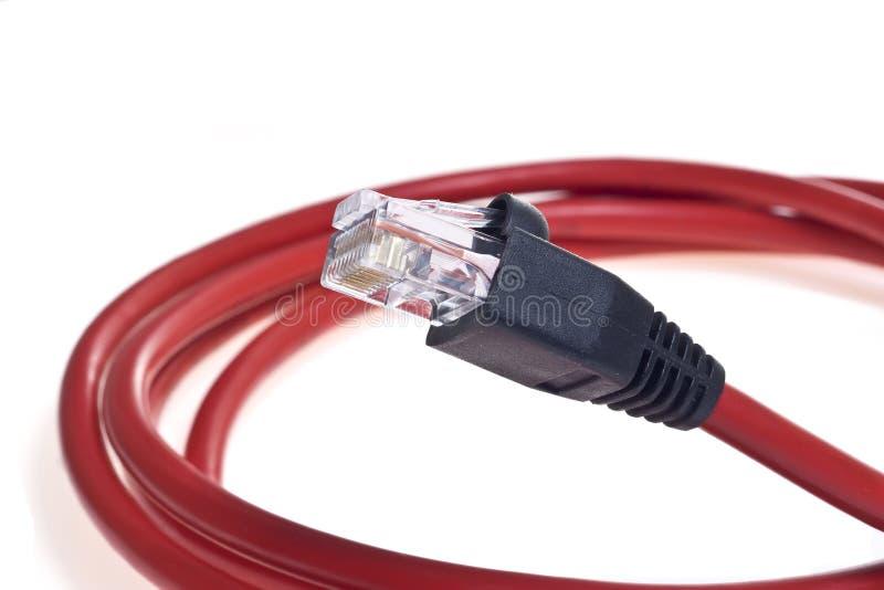 rouge de câble photographie stock
