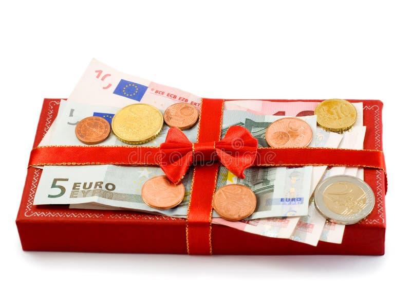 rouge de cadeau de cadre image libre de droits