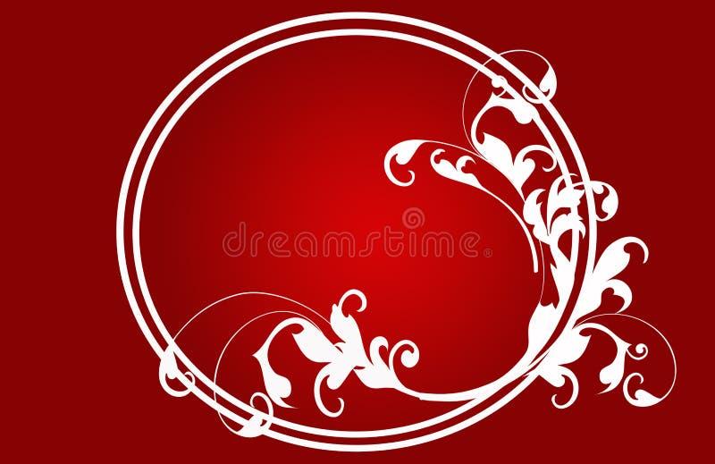 Rouge de carte de Noël, fleurs illustration de vecteur
