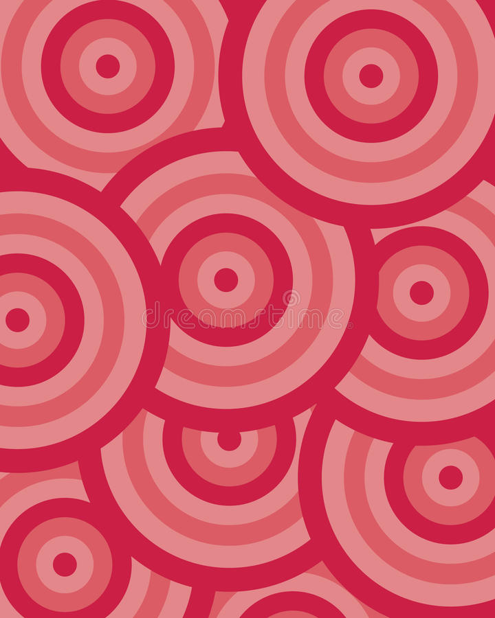 Rouge de cercle de configuration illustration de vecteur