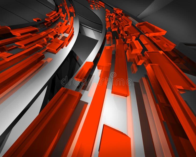 Rouge de circulation de l'information illustration de vecteur