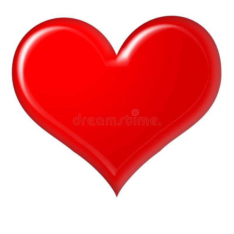 rouge de coeur illustration stock