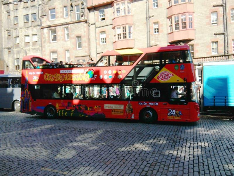 rouge de double de pont de bus photos stock