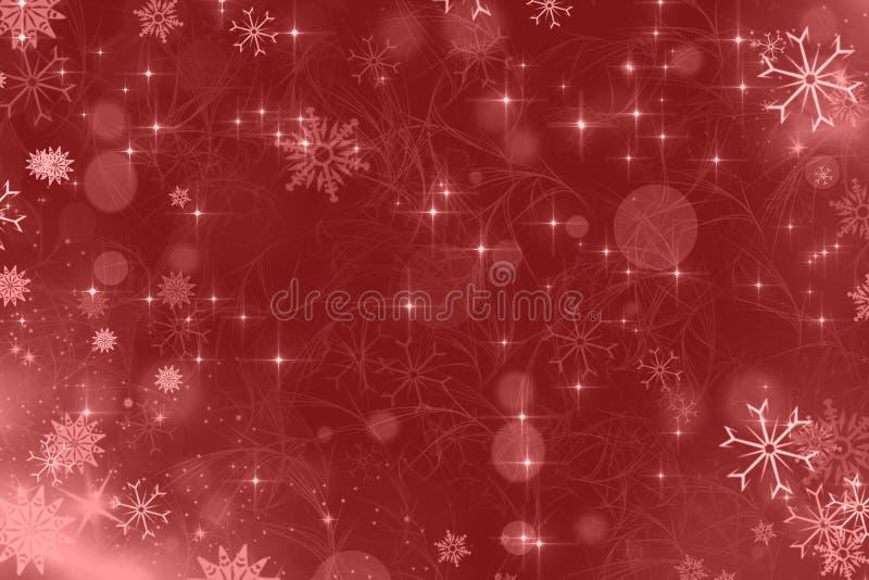 Rouge de fond de Noël illustration libre de droits