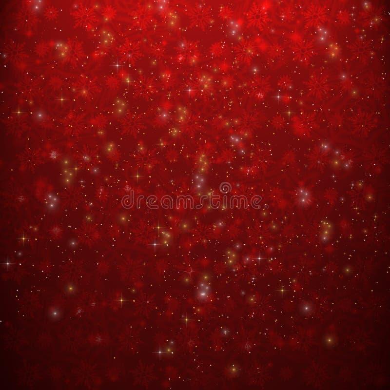 Rouge de fond de Noël illustration de vecteur