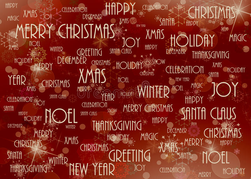 Rouge de fond de Noël illustration stock