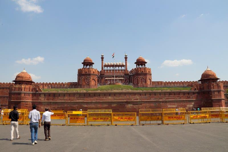 rouge de fort de Delhi photo stock