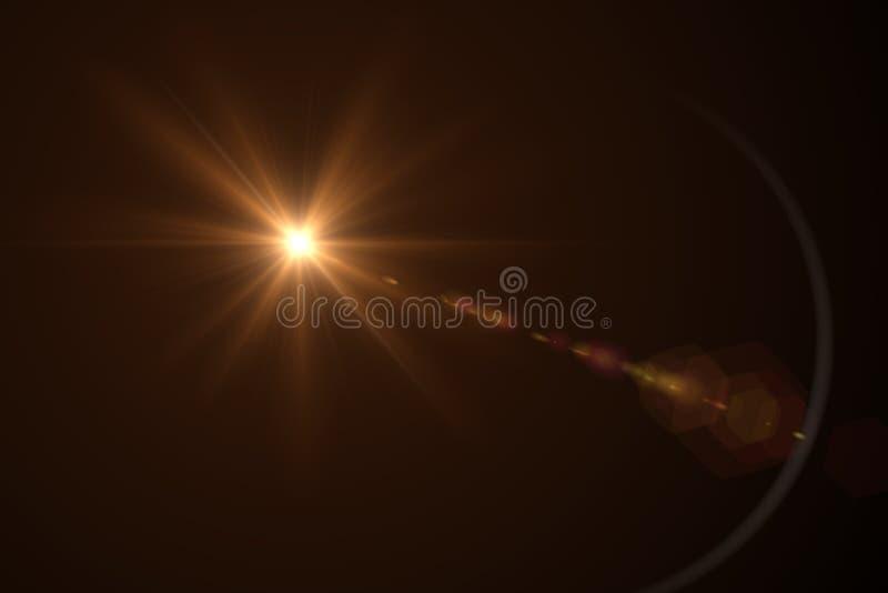 Rouge de fusée de lentille de Digital illustration stock