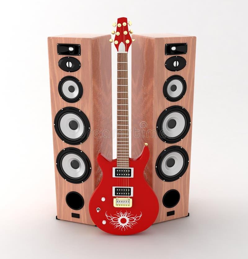 rouge de guitare photos libres de droits