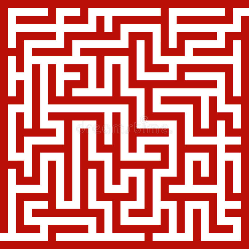rouge de labyrinthe illustration libre de droits