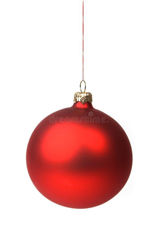 rouge de Noël de babiole photo stock
