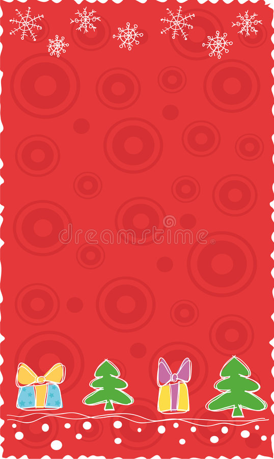 rouge de Noël de drapeau illustration libre de droits