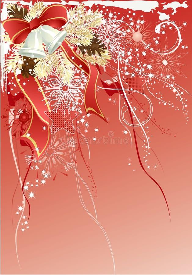 rouge de Noël de fond illustration libre de droits