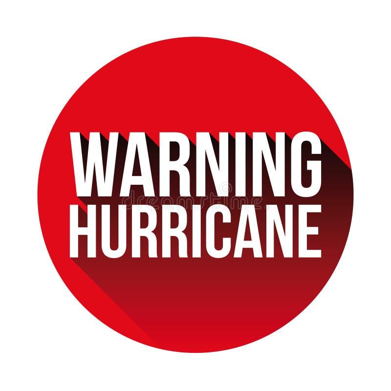 Rouge de panneau d'avertissement d'ouragan illustration libre de droits