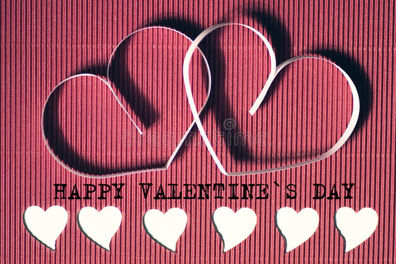 Rouge de papier de forme de coeur image stock