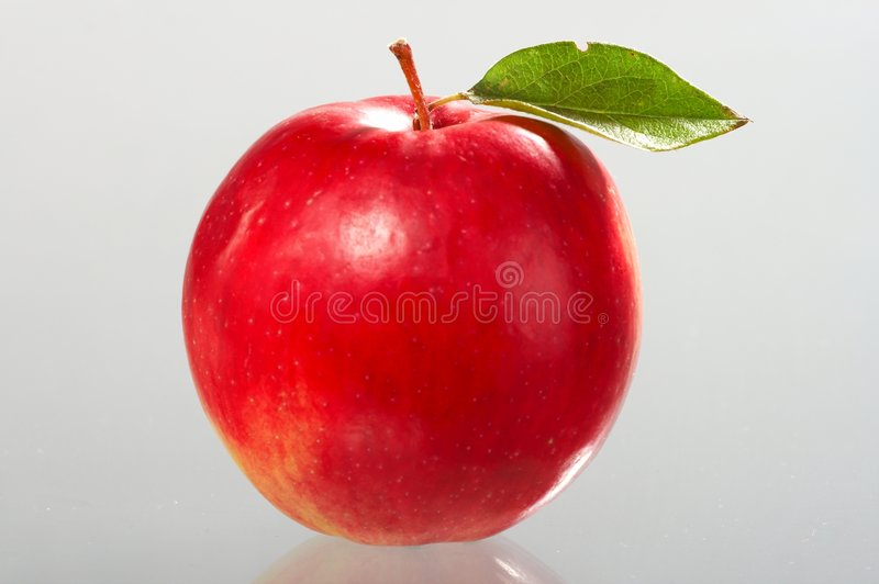 rouge de pomme photo stock