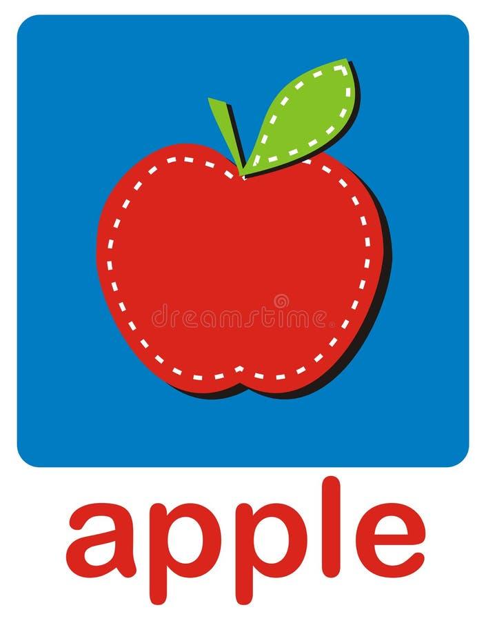 rouge de pomme illustration de vecteur
