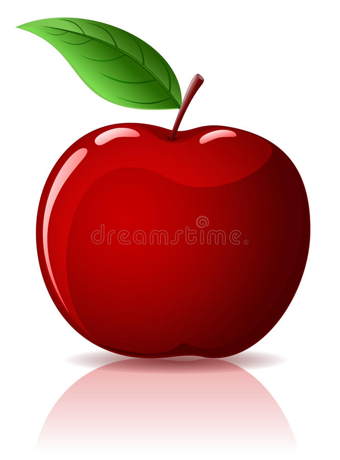 rouge de pomme illustration stock