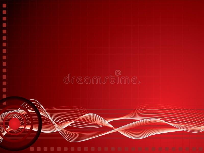 Rouge de réseau de Techno illustration stock