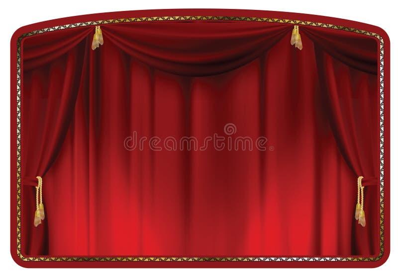 Rouge de rideau illustration stock