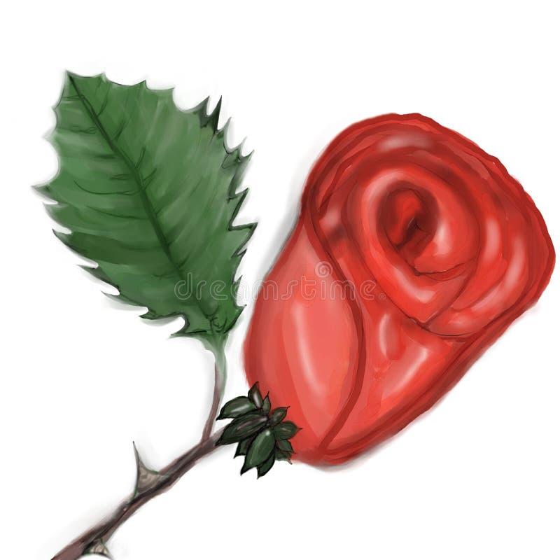 Rouge de Rose illustration stock