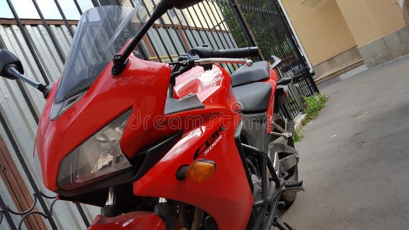 Rouge de sportbike de Honda CBR 500 rr image libre de droits