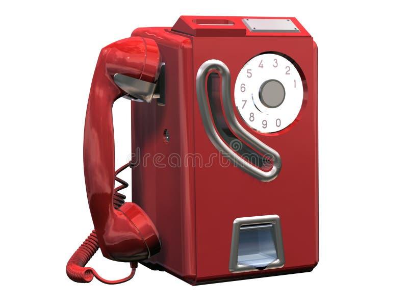 rouge de téléphone illustration stock