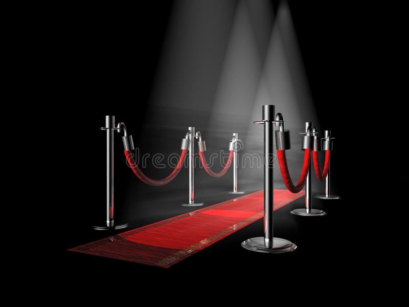 rouge de tapis illustration stock